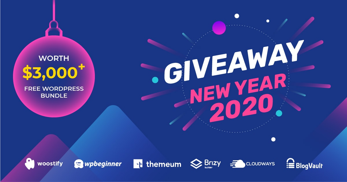wordpress new year giveaways